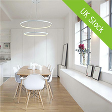 LED Pendant Light Metal Acrylic Light LED Patch Ceiling Light 48W Warm White Energy Saving