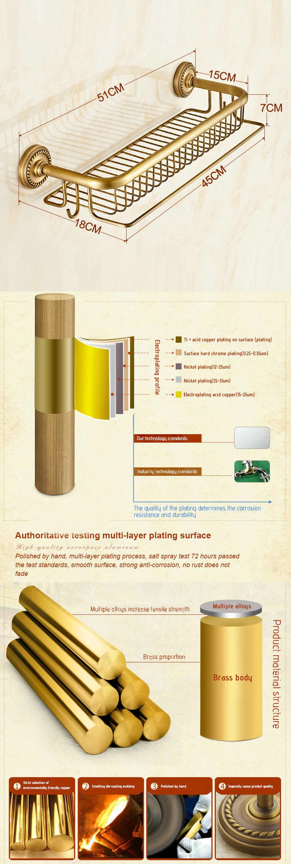 tag re de salle de bain en cuivre avec crochet tirage r tro. Black Bedroom Furniture Sets. Home Design Ideas